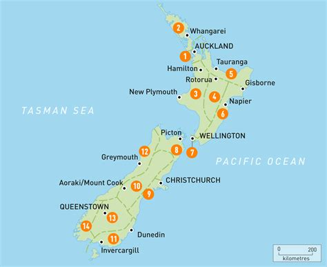 map   zealand  zealand regions rough guides