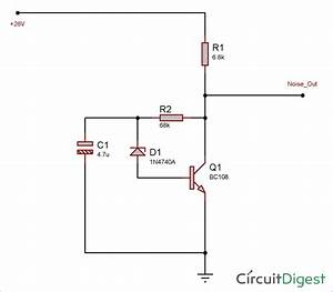 Simple White Noise Generator Circuit