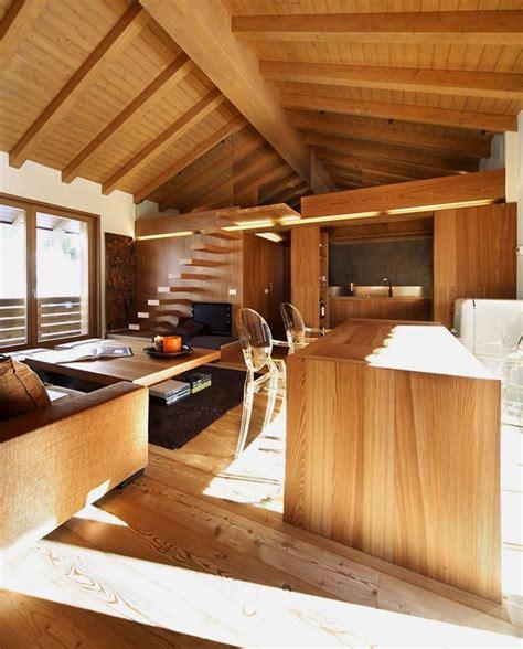 cozy apartment wooden elements  home design garden