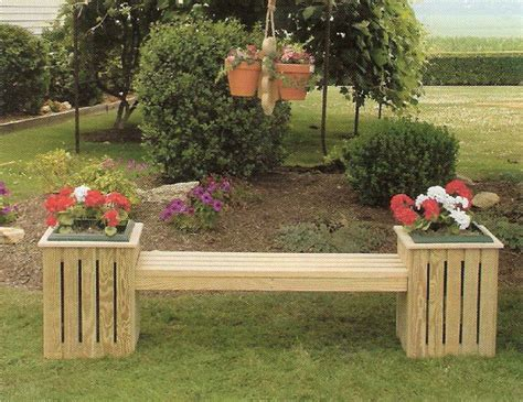 amish pine outdoor country bench planter  plastic pot