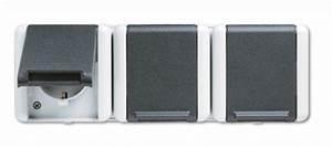 Jung Aufputz Schalter : jung 8230w schuko steckdose 3fach wg800 ip44 grau elektrohandel ~ Eleganceandgraceweddings.com Haus und Dekorationen