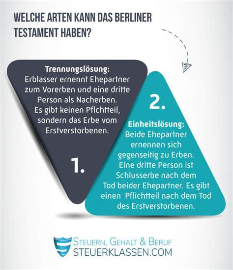 berliner testament regelt den nachlass eines ehepaares