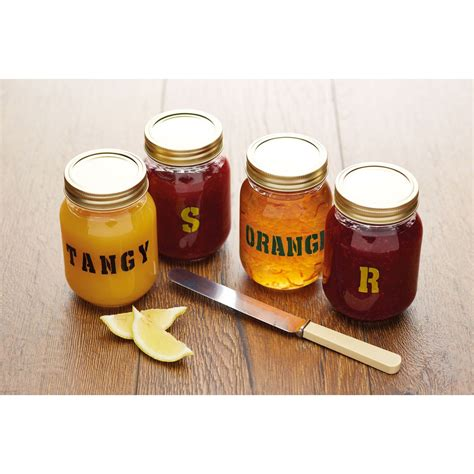 Kitchen Craft Number by Kitchen Craft Home Made Set Of Four Jar Letter And Number