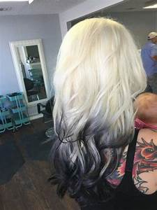 My New Reverse Ombre White To Black Done Withoit Bleach