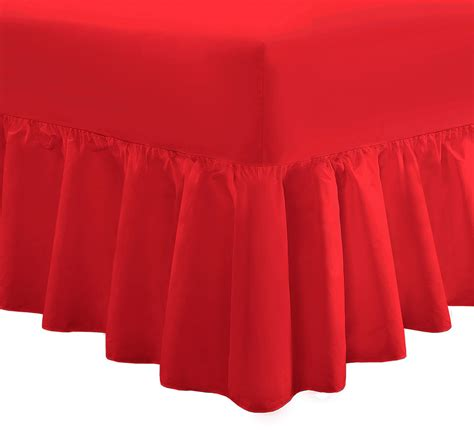 Valance Sheet by Plain Dyed Fitted Frilled Valance Sheet Poly Cotton Bed