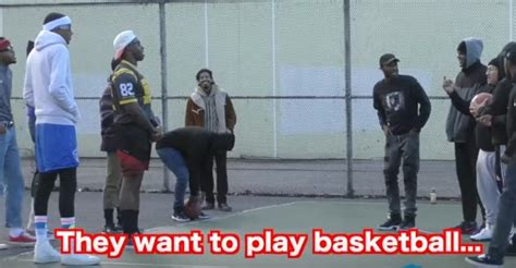Nerds Turn Up To The Hood Wanting To Play Ball Next