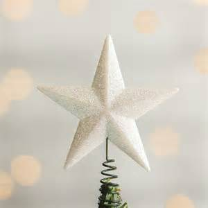 small white iridescent star tree topper christmas trees and toppers christmas and winter