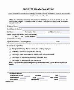 employment separation certificate template 28 images With employment separation certificate template