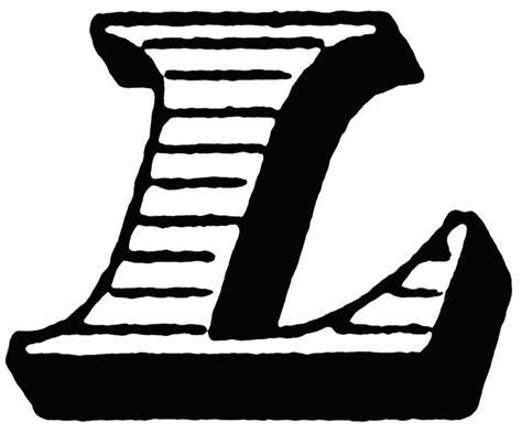 L, Italic Initial