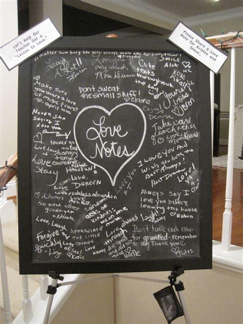 "Chalkboard Love Notes for a ""Teacher Themed"" Bridal Shower"