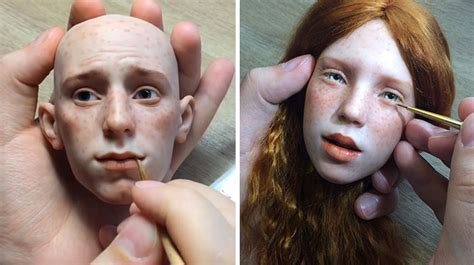 russian artist creates stunningly realistic doll faces
