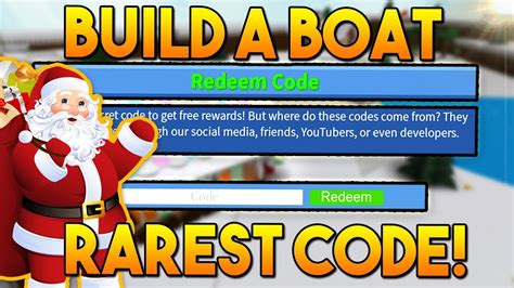 rarest  winter code build  boat  treasure