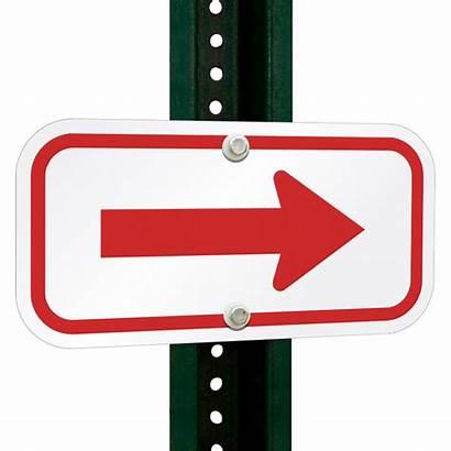 Sign Arrow Signs Aluminum Directional 1775 1971