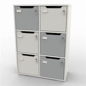 Meuble Casier Blanc : meuble rangement caseo avec casiers vestiaire bois pour entreprise ~ Teatrodelosmanantiales.com Idées de Décoration