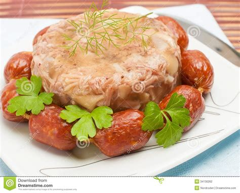 aspic cuisine traditional food aspic jelly stock