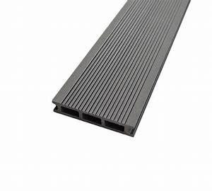 Terrasse Lame Composite : lame terrasse bois composite gris anthracite mdsa france ~ Edinachiropracticcenter.com Idées de Décoration