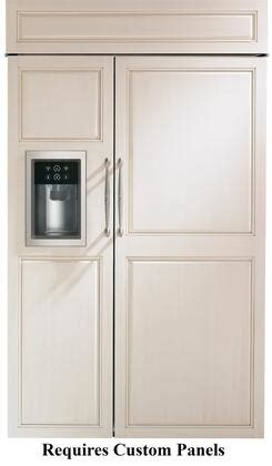 monogram zisbdh   panel ready built  counter depth side  side refrigerator