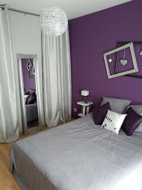 d馗orations chambre décoration chambre violet et gris decoration guide