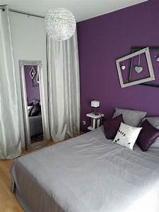 decoration chambre violet et gris decorationguide With chambre lilas et gris