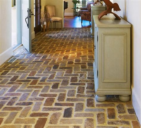 brick kitchen floor tile brick floor tile classic and style in modern home 4887