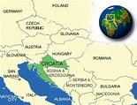 Map of Croatia. Terrain, area and outline maps of Croatia ...