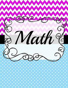 printable printable binder cover designs for math