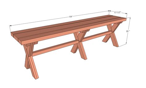 Picnic Bench Dimensions by White S X Bench For X Picnic Table Diy Projects