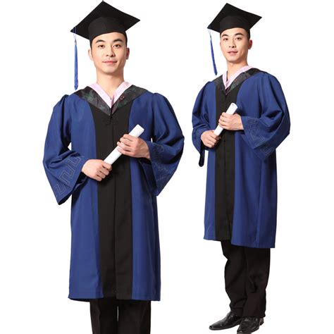 Masteru0026#39;s degree gown bachelor costume and cap University graduates clothing academic gown ...