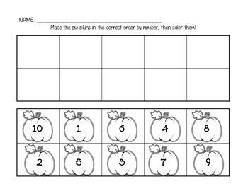 pumpkin number ordering 1 10 by day in tk tpt