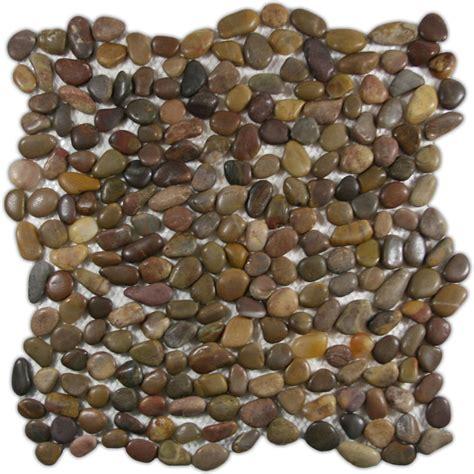 river rock tile mini polished pebble tile 12 quot x 12 quot river rock 1968