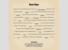 Template Best Man Speech Examples