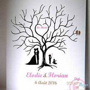 Arbre A Empreintes : arbre empreinte mariage personnalis 50 60 un grand march ~ Farleysfitness.com Idées de Décoration