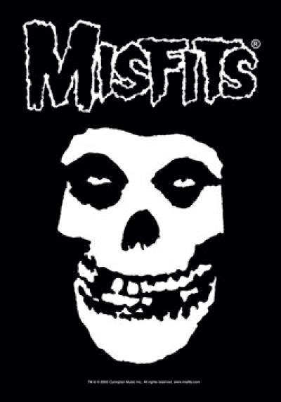 Misfits Poster Flag White Letters Fiend Skull Logo | Logos ...
