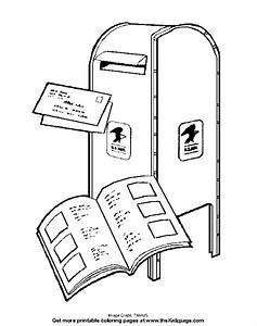 Mail Delivery - Free Coloring Pages for Kids - Printable ...
