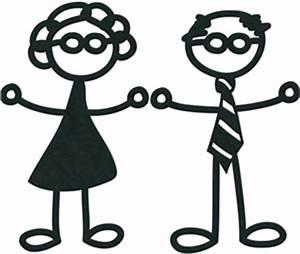 stick figures - grandparents | silhouette 2 | Pinterest