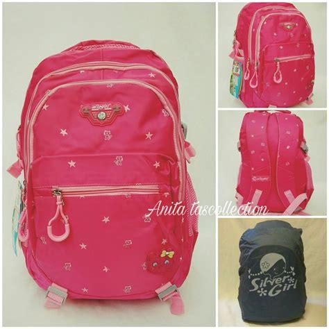 jual tas alto import original ransel laptop tas sekolah anak pink plus raincoat di lapak