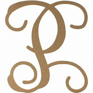 12quot wood letter vine monogram p ab2211 craftoutletcom for Monogram letter p