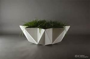Kronen Bowl Planter 1m  White Concrete  U2013 Award Winning