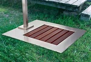 Piatto doccia da giardino in acciaio inox e legno