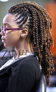 Flat Twist Natural Hair Mohawk
