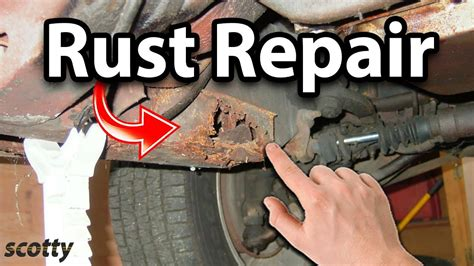 rust under truck fix subframe treatment surface garage