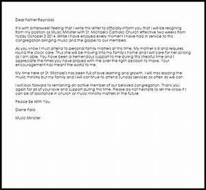Uk Cv Sample Church Resignation Letter Resignation Letters Livecareer