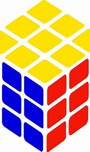 Rubik's cube vector drawing | Free SVG