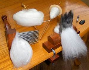 Wool Combs - A handle with long tines used to comb wool ...