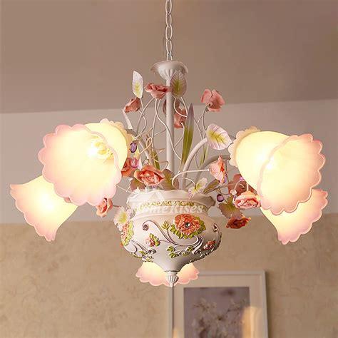 light chandelier wrought iron glass shade ceramic