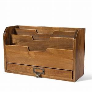 3, Tier, Wooden, Desk, Organizer