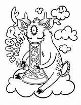 Coloring Weed Smoking Popular Clip sketch template