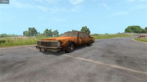 rusty car driving beamng drive tough car challenge rusty olds 98 regency