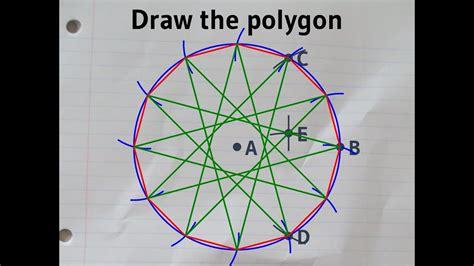 constructing  regular dodecagon   circumcircle youtube