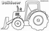 Bulldozer Coloring Pages Drawing Backhoe Drawings Vehicle Colorings Getdrawings Comments sketch template